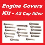 A2 Cap Allen Engine Covers Kit - Suzuki TS250ER